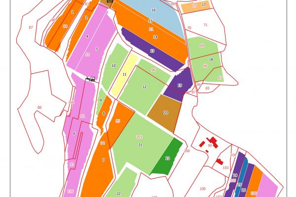 agriculture GPS carte carto cartographie parcelle agricole SIG plan surface superficie couleur culture cépages vigne viti viticulture cadastre exploiation