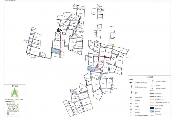 cartographie agriculture SIG GPS carte carto plan parcelle agricole surface superficie couleur culture cadastre exploiation irrigation viticulture vigne cépage code